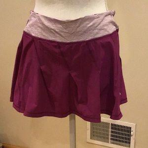Lululemon plum running skirt
